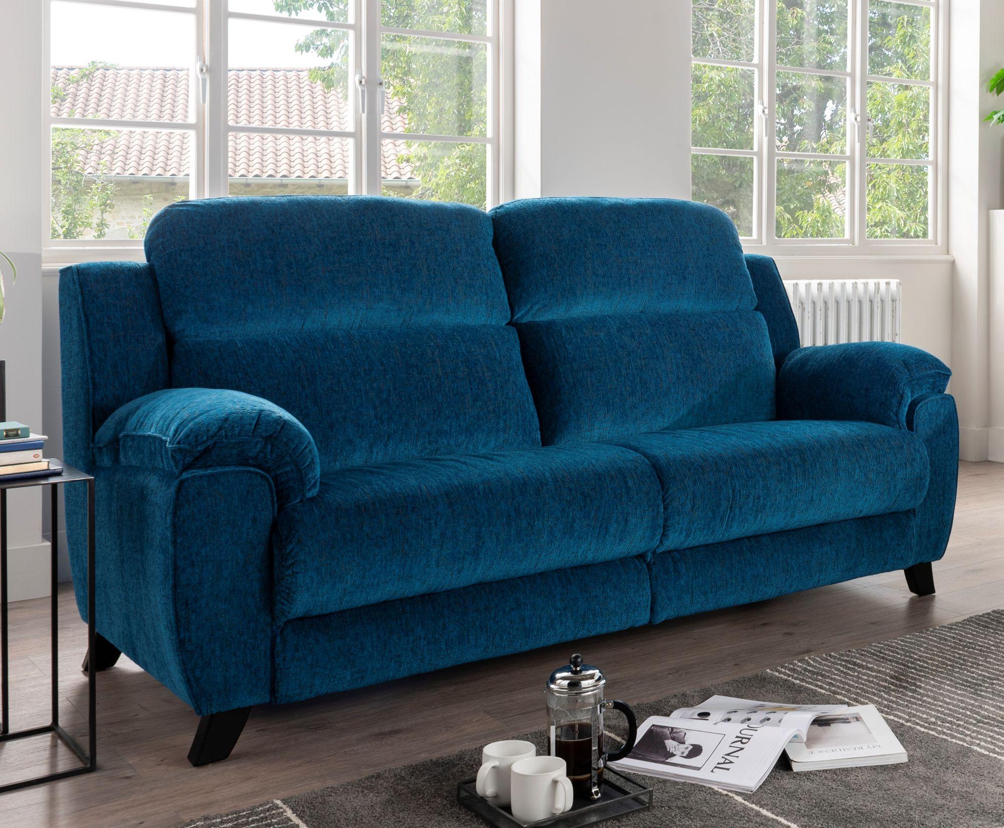 Picture of: La Z Boy Trent 3 Seater Power Reclining Sofa Medium Sofas Living Homes