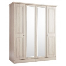 Kingstown Toledo 4 Door Centre Mirror Wardrobe