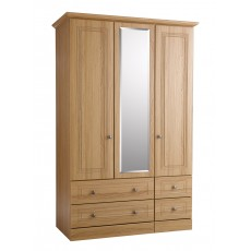 Kingstown Toledo 3 Door / 4 Drawer Centre Mirror Wardrobe