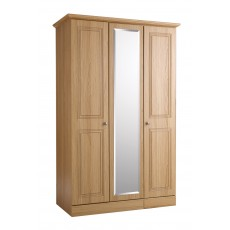 Kingstown Toledo 3 Door Centre Mirror Wardrobe