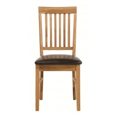 Regis Oak PU Dining Chair (Pair)