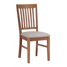 Regis Oak Fabric Dining Chair (Pair)