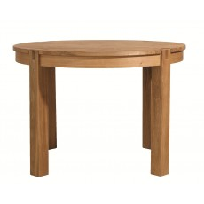 Regis Oak Fixed Round Dining Table