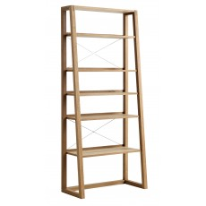 Regis Oak Framed Ladder Shelf Unit