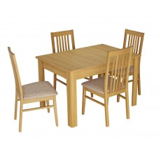 Kingstown Dalby Standard Extending Dining Table & 4 Chairs