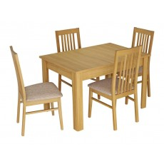 Kingstown Dalby Large Extending Dining Table & 4 Chairs