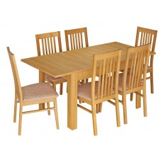 Kingstown Dalby Large Extending Dining Table & 6 Chairs