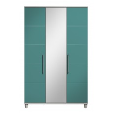 Halogen 3 Door Centre Mirror Wardrobe with Shelf Pack
