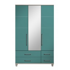 Halogen 3 Door Centre Mirror Gents Wardrobe