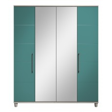Halogen 4 Door Centre Mirror Wardrobe