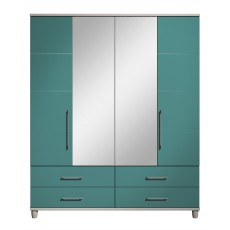 Halogen 4 Door Centre Mirror Gents Wardrobe