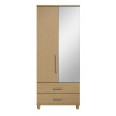 Decade 2 Door Right Hand Mirrored Gents Wardrobe