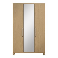 Decade 3 Door Centre Mirror Wardrobe with Shelf Pack