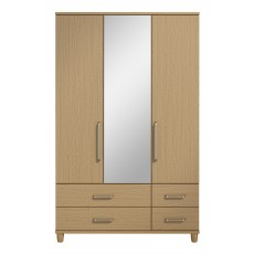 Decade 3 Door Centre Mirror Gents Wardrobe