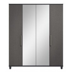 Decade 4 Door Centre Mirror Wardrobe