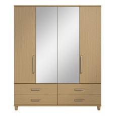 Decade 4 Door Centre Mirror Gents Wardrobe