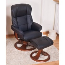 Elano Best Relaxer Chair & Footstool (Stock Colour)