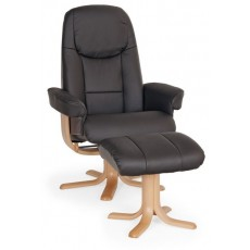 Elano Oslo Relaxer Chair & Footstool (Stock Colour)