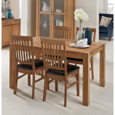 Regis Oak 140x90cm Dining Table & 4 Bicast Chairs