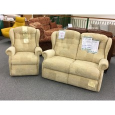 Clearance - Sherborne Lynton Small 2 Seater Sofa & Small Manual Recliner