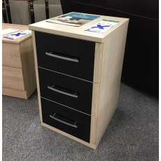 Clearance - Kingstown Azure 3 Drawer Bedside Chest