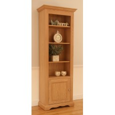 Andrena Pelham Narrow Open Bookcase with Door