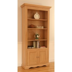 Andrena Pelham Wide Open Bookcase with Door