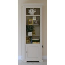 Andrena Barley Narrow Open Bookcase with Door