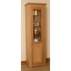 Andrena Elements Narrow Glazed Bookcase with Door
