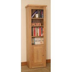 Andrena Elements Narrow Open Bookcase with Door
