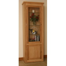 Andrena Elements Medium Glazed Bookcase with Door