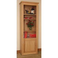Andrena Elements Medium Open Bookcase with Door