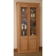 Andrena Elements Wide Glazed Bookcase with Doors