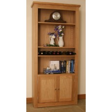 Andrena Elements Wide Open Bookcase with Doors
