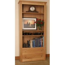 Andrena Elements Wide Open Bookcase with Drawers