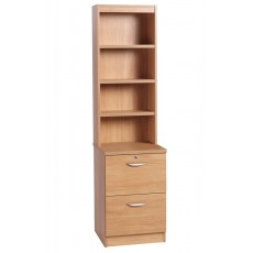 Two Drawer Filing Cabinet with OSC Hutch