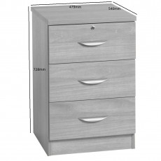 Three Drawer CD/ DVD Storage Unit