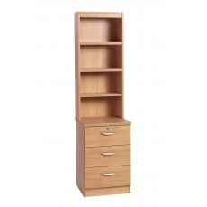 Three Drawer CD/ DVD Storage Unit with OSC Hutch