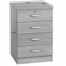 Four Drawer Unit