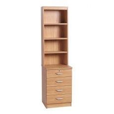 Four Drawer Unit with OSC Hutch