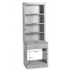 Printer/Scanner Desk Drawer Unit with OSD Hutch