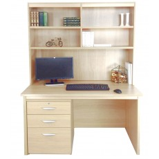 Home Office Desk with Drawers/ Filing Cabinet and OSI Hutch