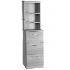 Three Drawer Filing Cabinet with OSA Hutch
