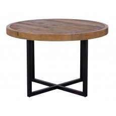 Baker Nickel 120cm Round Fixed-Top Dining Table