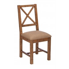 Baker Nickel Upholstered Dining Chair