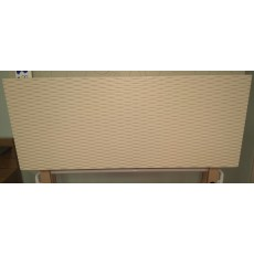 Clearance - Stuart Jones Loom 4'6' (135cm) Double Headboard (Ivory)