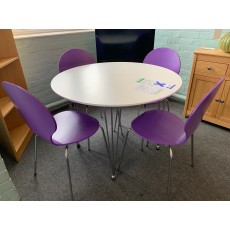 Clearance - Actona Lene Round Table & 4 Chairs (in a choice of colours)