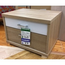 Clearance - Rauch Plus 2  2 Drawer Bedside Chest