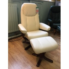 Clearance - Elano Oslo Swivel Chair & Footstool