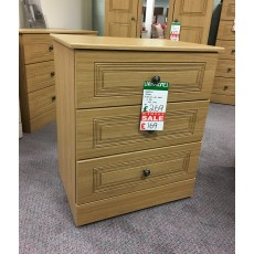 Clearance - Kingstown Toledo 3 Drawer Wide Chest